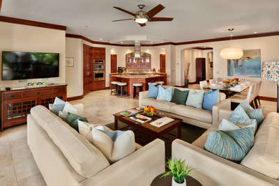 Expansive Great Room with Partial Ocean View