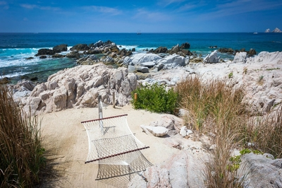 Sway to the sounds of the waves of the Sea of Cortez in the net hammock found on the property