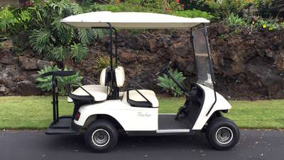 This four-seater golf cart is included with your rental!