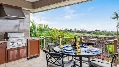 Lanai with barbecue grill.