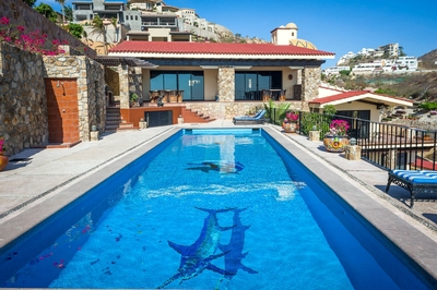 Take a dip in the spacious private pool found at Villa Golden Dome