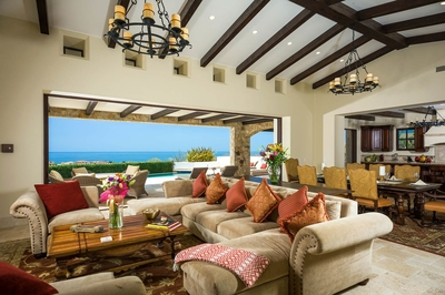 Lounge inside on the plush cushions of Casa Kay's living area