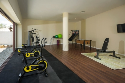 Never miss a workout at Casa Kay's in-home gym!