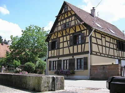 Typical 18th century Alsacian house