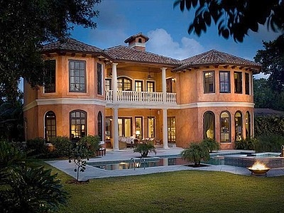 Waterfront Tuscan Mansion w/ Private Beach & Dock
