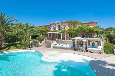 6 bedrooms Beach Villa Saint-Tropez heated pool