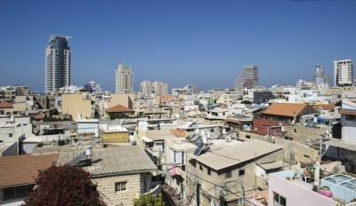 Shuk Hakarmel Tel Aviv studio furnished penthouse