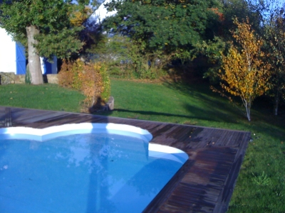 Pool open and garden view