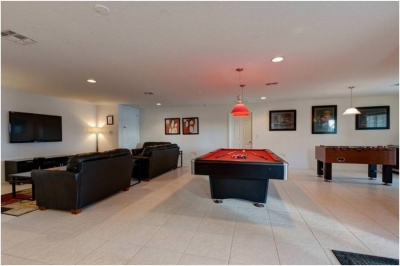 Fantastic Games Room with 60 inch TV.