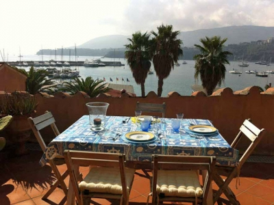 Island Retreat w Roof Terrace & Port Azzurro Views