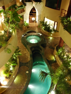 Gardens and Jacuzzi