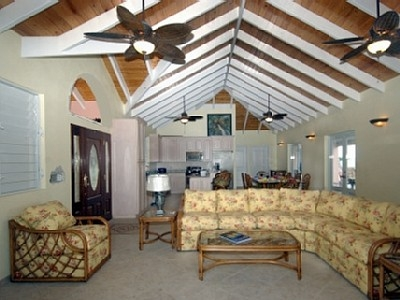 Spacious Greatroom With 10Ft. Vaulted Ceiling