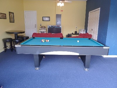 Superior Games Room With Pool Table, Darts And X Box
