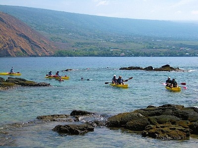 Enjoy kayaking at our private bay & Kealakekua Bay