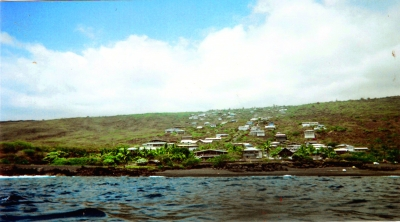 View of our home location from Kaohe Bay