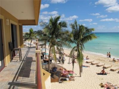 Beach front condo in Playa Del Carmen, Mexico